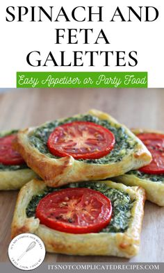 Spinach and Feta Galettes #itsnotcomplicatedrecipes #spinachandfeta #spinachandfetagalettes #galettes #pastryrecipes #spinachandfetapastry #easyappetiserrecipes | itsnotcomplicatedrecipes.com