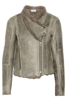 Helmut Lang | Distressed shearling jacket | NET-A-PORTER.COM