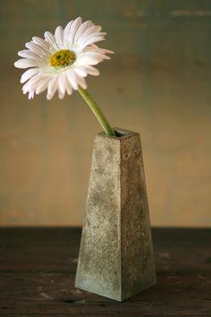 Concrete . Bud . Vase