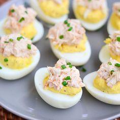 Chili-Crab Deviled Eggs