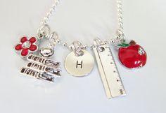Personalized Teacher Gift - Teacher Gifts - Teacher Necklace - Teacher Jewelry - Preschool Teacher Gifts - Teacher Thank You Gift - School