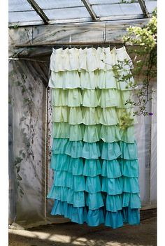 Anthropologie ruffle shower curtain