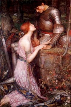John William Waterhouse: Lamia and the Soldier, 1905. romanc, soldier, oil paintings, fairy tales, redhead, artist, john william waterhouse, greek mythology, knight