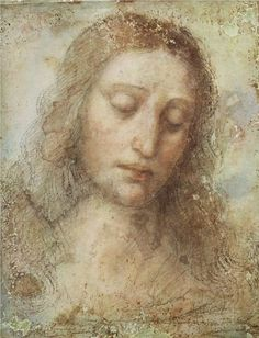 artda vincileonardo, supper, jesus, christ, leonardo davinci, paint, leonardo da vinci, head, 1495