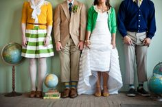 color cardigan bridal