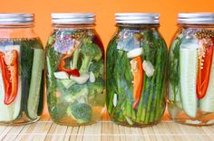 Homemade pickles!  How pretty!