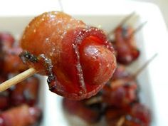 Brown Sugar, Bacon, lil smokies and worchester sauce :-) Everyone LOVES when I make these!!!