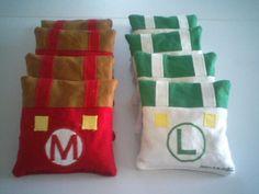 Mario and Luigi cornhole bags
