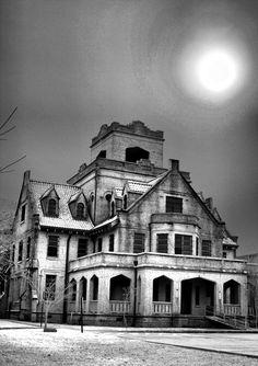 gothic jail in Deridder, La