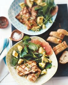 Grilled mahi mahi with avocado and grapefruit salad from Real Simple.