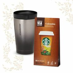 The Traveler. A perfect gift for dads on-the go: a double-walled stainless steel tumbler and smooth instant coffee with a signature walnut flavor. $25.00 at StarbucksStore.com