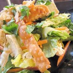 """Chinese Chicken Salad III   """"This is amazing! Every time I make it, my family drools. Today my son suggested we throw it in a wrap with the lettuce and the crunchy wontons on top. It was a supreme innovation for taking this deliciousness on-the-go."""" -RAAntcliff"""
