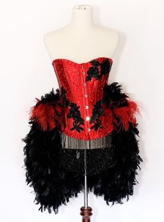 Red Feather Corset