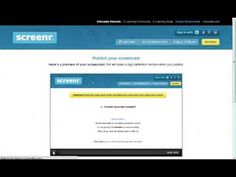How to use Screenr to do video screen capture - YouTube