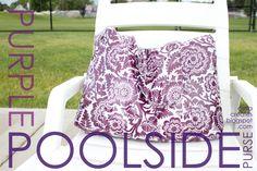 delia creates: Purple Poolside Purse  I have laminated cotton and I need to make this!