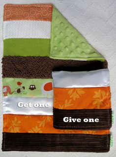 Baby Sensory Security Blanket Lovey -woodland - Get One, Give One to babies in Kenya, $30.00