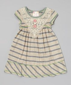 Another great find on #zulily! Gray Lace Babydoll Dress - Toddler #zulilyfinds