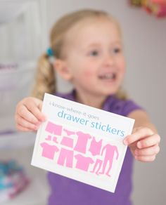 Drawer Stickers help kids (and parents!) make chores easier and more fun!