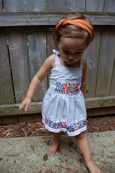 her dress....