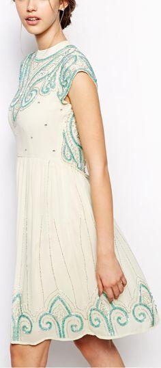 embellished shift dress