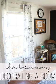 where to save money on decorating
