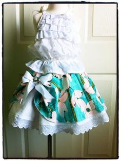 Girl's Twirl Skirt sewing PDF pattern tutorial for kids children and babies