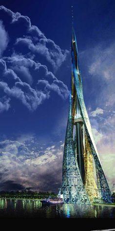 Dubai City Tower. #architecture #Design #build #building #architectural #architect #elegant @mad4clips