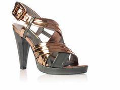 Designer shoes fashionistas Kurt Geiger bronze/grey.size 6.5