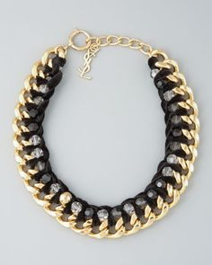 Velvet Chain Necklace by Yves Saint Laurent