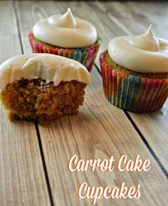 Carrot Cake Cupcakes - My Sweet Sanity