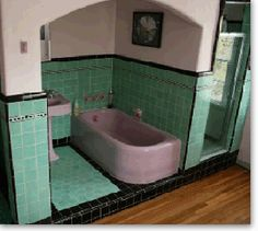 Midcentury Bathroom Inspiration on Pinterest