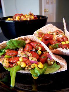 Kidney Bean and Corn Salsa Salad