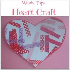 Washi Tape Heart Craft- pinned by @PediaStaff – Please Visit  ht.ly/63sNt for all our pediatric therapy pins