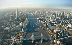 Tower bridge and shard - view  London
