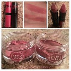 Rimmel London Kate Moss Lipsticks. The perfect pink and the perfect nude color! These are a makeup artist must-have, especially for bridal work! #rimmel #weddingmakeup #mua
