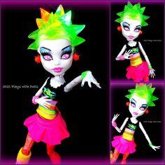 Rae Von by ~arkohio on deviantART evi doll, high repaint, monster high, high xx, olli monster, high madisyn, ooak monster