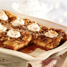 Peanut Butter Caramel French Toast