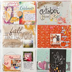 October 2014 - Week 41 - Scrapbook.com - Add journaling, doodling and more to 4x6 cards to make them your own.