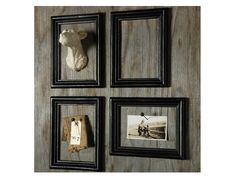 Mount photos and mementos in empty frames. Love this idea