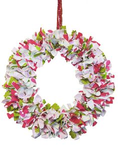Tie Fabric Wreath