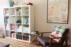 Apartment Therapy Blogger Style: Andie's Own Living Room #pendleton