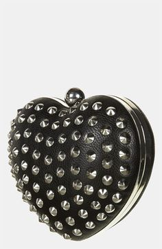 handbag, stud heart, woman fashion, heart box, boxes, christmas, box clutch, black, topshop stud