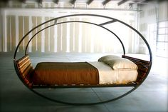 This is what I am talking about!! This bed would mimic the gentle rocking motion of a cruise ship. That rocking always helps me to sleep soundly.... decor, idea, beds, dream, mood rock, hous, furnitur, rock bed, design
