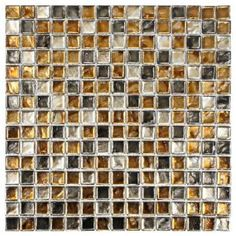 Merola Tile Illuvia Square Radium 12 in. x 12 in. Glass Mosaic Wall Tile