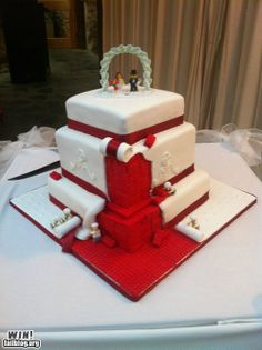 Wedding Cake lego cake, cake idea, funny pictures, food, weddings, under construction, wedding cakes, legos, awesom