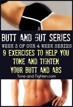 Tone & Tighten: Butt and Gut Workout Series Week 3