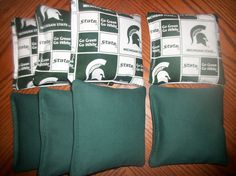 Michigan State Corn Hole Bag Set of 8  Quality by stephncal544, $17.99