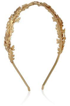 Lyra gold-tone leaf headband / Eugenia Kim