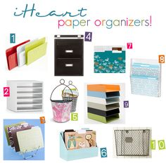 Tame the Paper Monster! ... Paper organizing products | by @jen Jones at IHeart Organizing