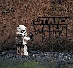 Storm trooper up to no good. I love lego.